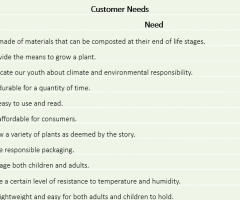 Defining My Consumer Needs and Product Metrics